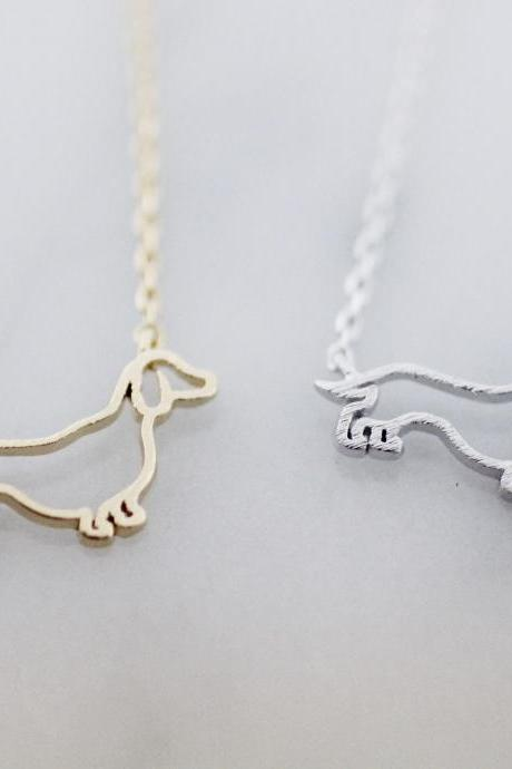 Cut out Dachshund Necklace pets necklace, dog necklace