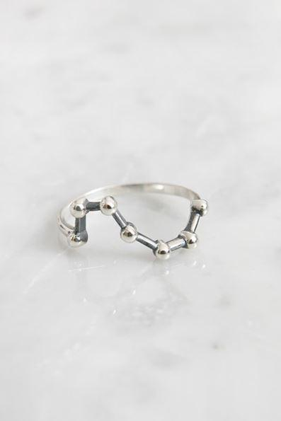 925 Sterling Silver Big Dipper Ring, Star sign Ring, R0991S