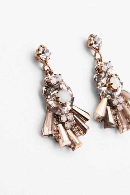 Gemstones Chandelier Statement earrings-Crystal gemstones earrings, Statement earrings