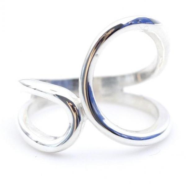 925 Sterling Silver Unbalanced Infinity Ring