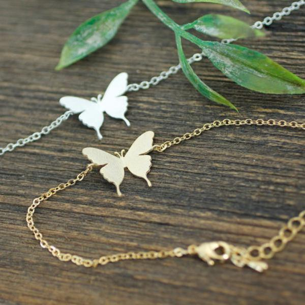 Butterfly Statement bracelet in 2 colors