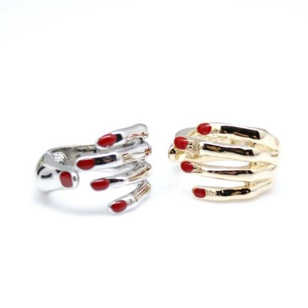 Hippie style Protective Hand Adjustable Ring in 2 colors