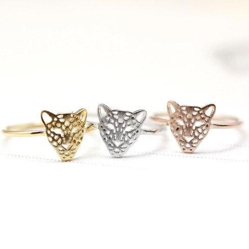 Cut-Out Animal Leopard Panther Cocktail Ring in 3 COLORS