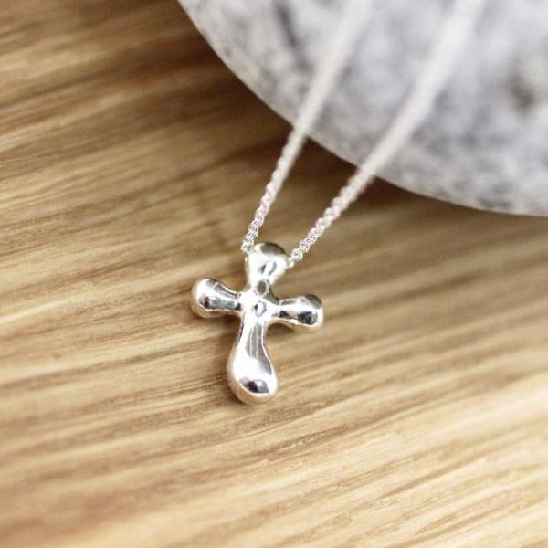 925 Sterling silver Simple Cross Pendant Necklace