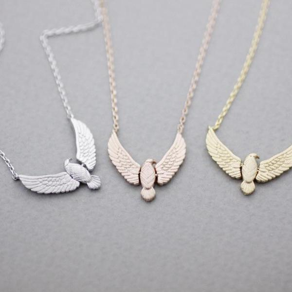 Big Eagle Necklace, Hawk Necklace, Bird Jewelry in 3 colors
