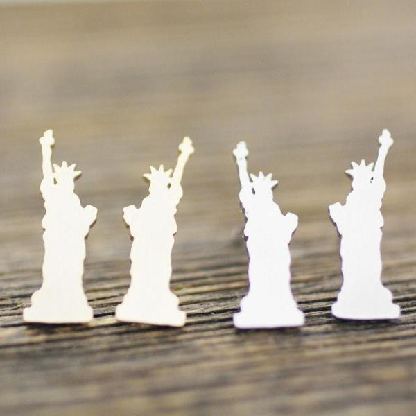 New York Statue of Liberty Earrings in Silver, Gold and Rose Gold, Jewelry