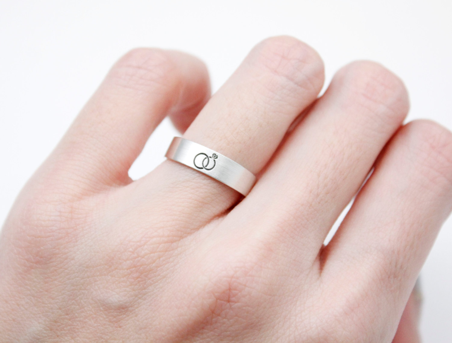 925 Sterling Silver Infinity Ring ,Engraved Couples Ring,Engagement ...