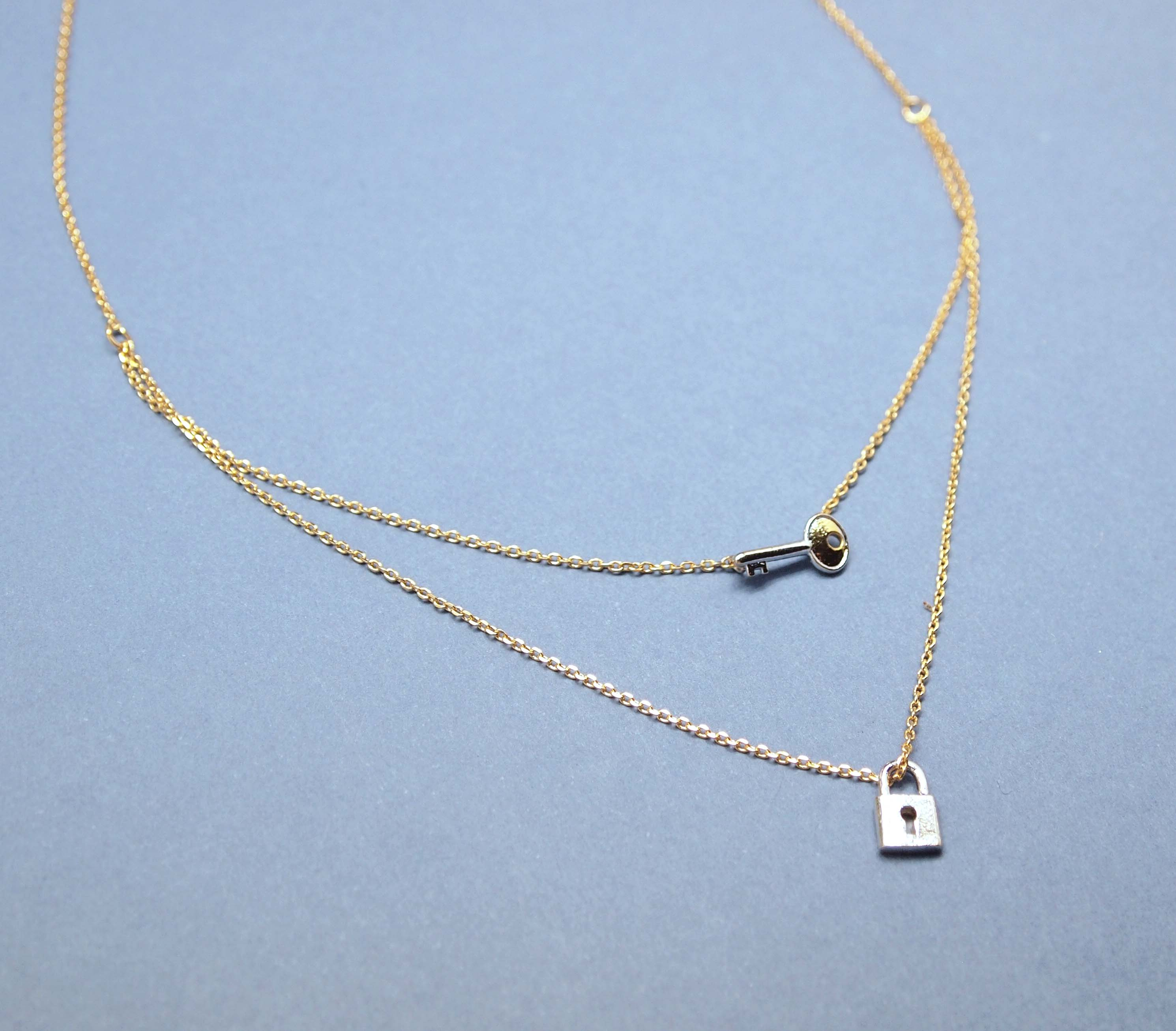 detail pendant product tiny with sticj crystal chain necklace double long simple buy tone gold designs layer